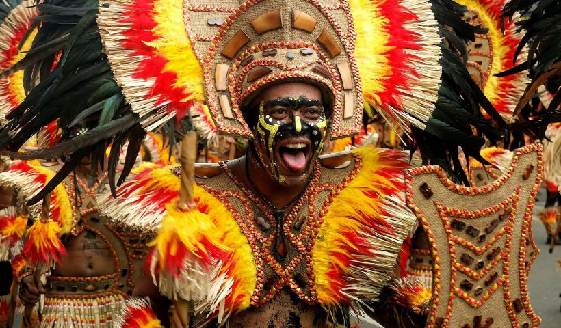 A picture of Dinagyang performers